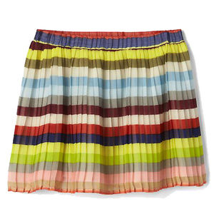 Gap Kids Crazy Multi Stripe Pleated Lined Skirt